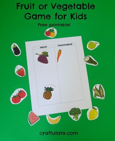 Fruit or Vegetable Game for Kids - with free printable!
