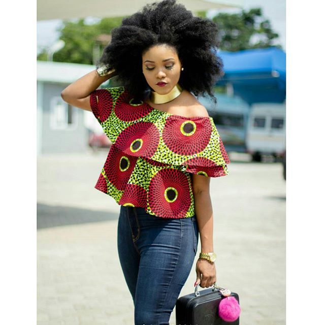 FRO Ankara off shoulder top from @beth__sante( one of her Collections she blessed me with before going to the Ghana's most beautiful reality house. I love it. Hope u do too? @sethappiahphotography