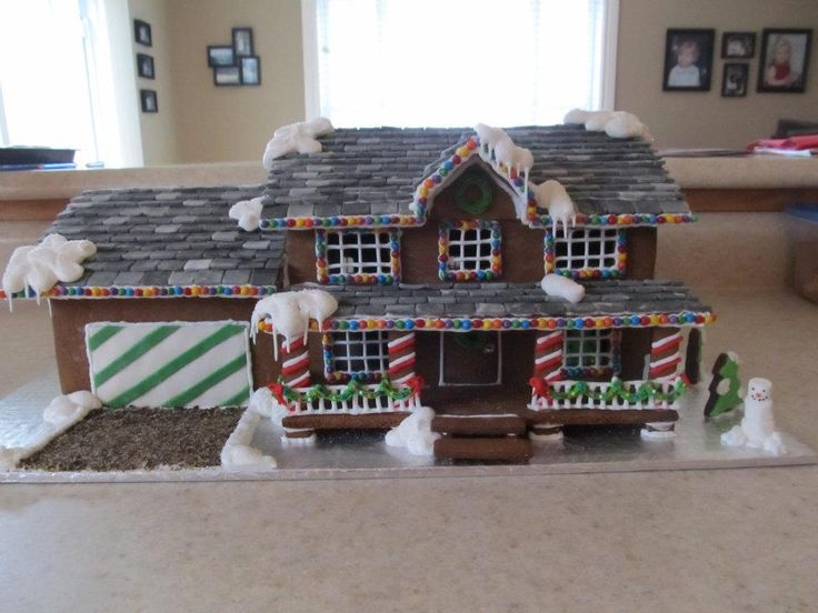 Our house, gingerbread style!