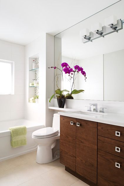 """extend the countertop over the toilet tank. Since counter heights vary from 32 to 36"""", carefully consider...not only does the tank need to be low enough, but you must be able to remove the lid without obstruction."""