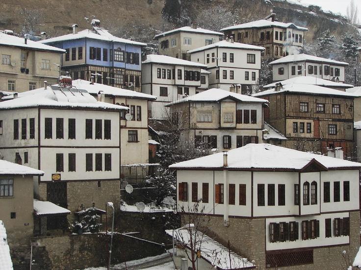 Safranbolu houses under snow...