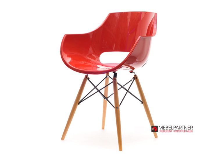 Nowoczesne krzesło do kuchni GRUND czerwone. - Mebel-Partner.pl