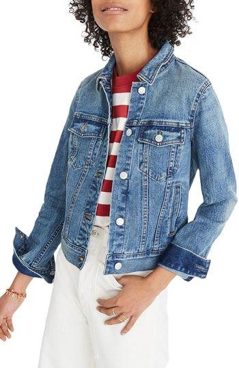 3b6a9cedf New Madewell Shrunken Stretch Denim Jacket women's coats Jacket online.  [$118] findanew offers on top store