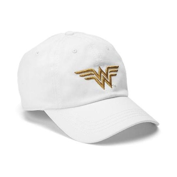 Gap Wonder Woman baseball hat ($30) ❤ liked on Polyvore featuring accessories, hats, ball cap, baseball cap hats, baseball hat, baseball cap and ball cap hats