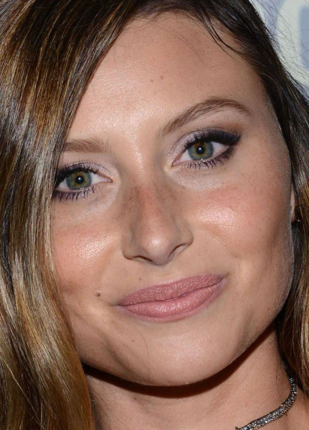 Close-up of Aly Michalka at the iZombie press line at Comic-Con 2016.