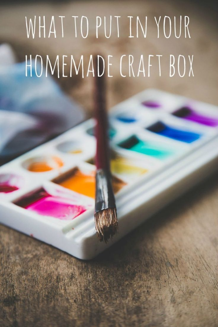 What to Put in a Homemade Craft Box. If your kids love craft then making a simple craft box makes budget crafting possible. There is so much we can recycle and upcyle form arround our home cheap crafts and even free crafts are possible. You will have so much fun crafting form a homemade box of craft material. Perfect for thrifty and eco friendly green families