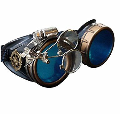 For sale at Amazon: Steampunk Victorian Goggles welding Glasses  4.5 out of 5 stars.  Price: only $24.99   &  FREE Returns.