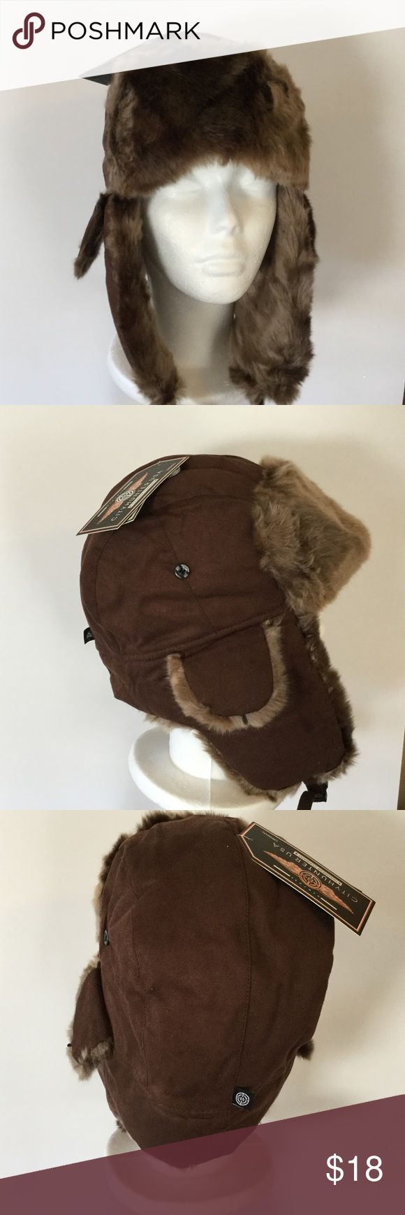 Faux Fur Trapper Hat Too cute, faux fur trapper hat, fall and winter are just around the corner, inside is fur and quilted lining for snuggly comfort City Hunter Accessories Hats
