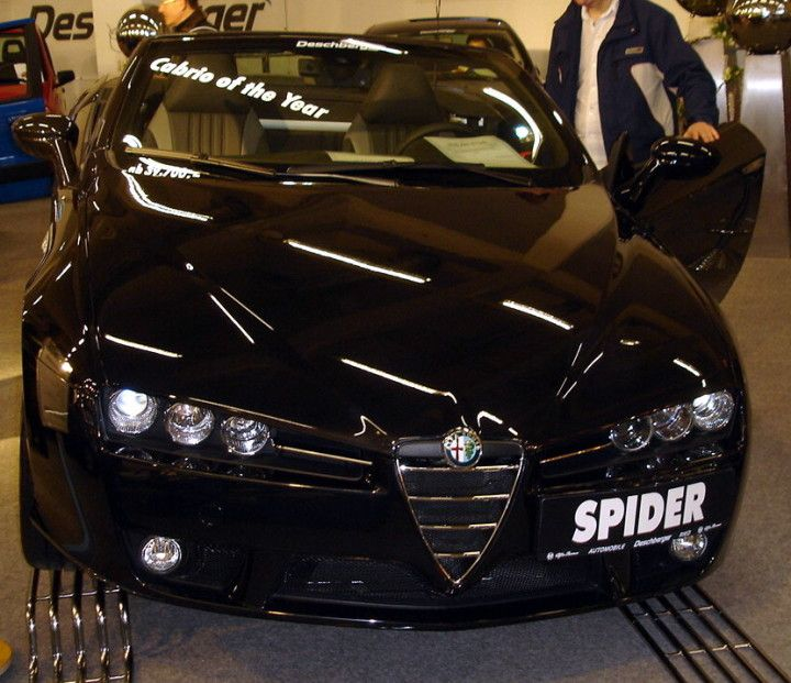 alfa romeo spider 2006 black