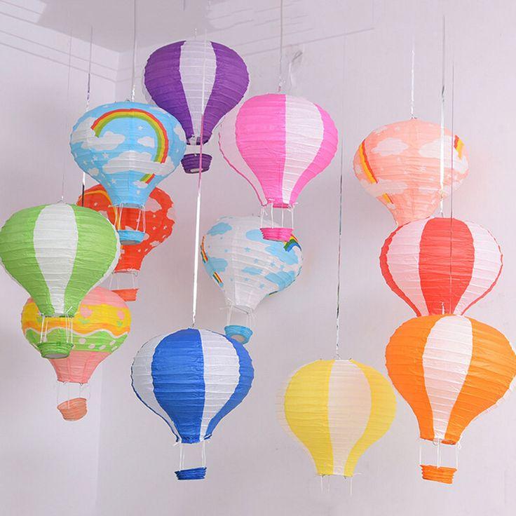 Hot Air Balloon Paper Lantern Home Room Decor Birthday Party Wedding Decoration #Unbranded #Anniversary
