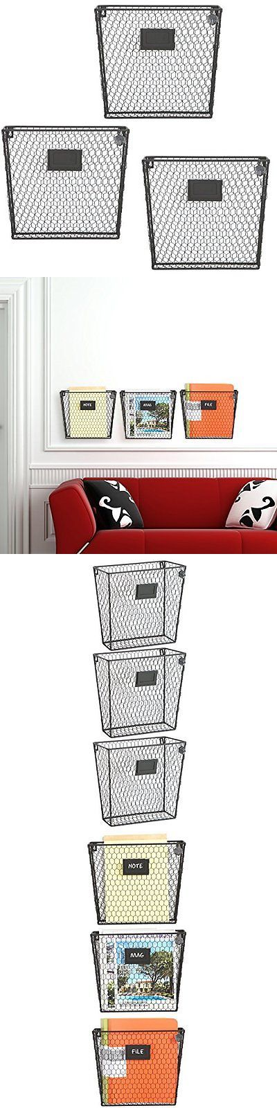 key and letter holders rustic metal wire basket wall mounted magazine rack mail sorter