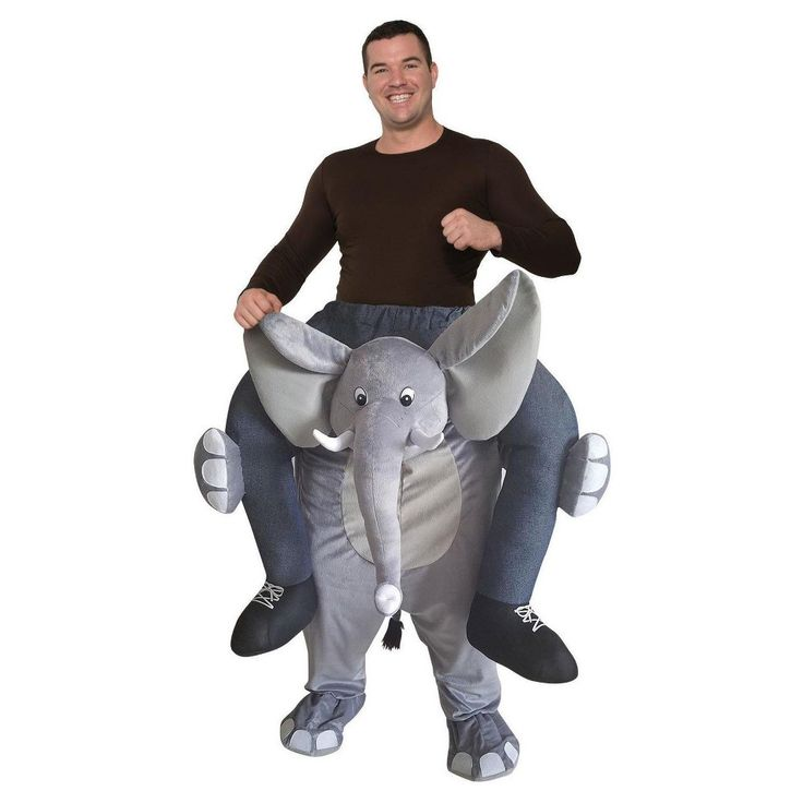 Adult Ride an Elephant Costume, Adult Unisex, Multi-Colored