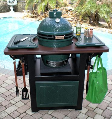 We have a Big Green Egg.  I'm sure S. would love something like this :) The ultimate cabinet for The Big Green Egg.