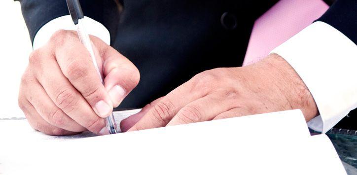 Firma de Acta de Matrimonio
