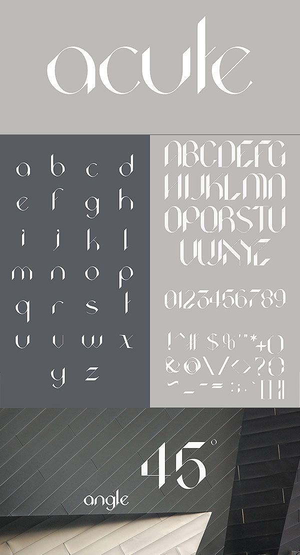 Acute free font / typeface