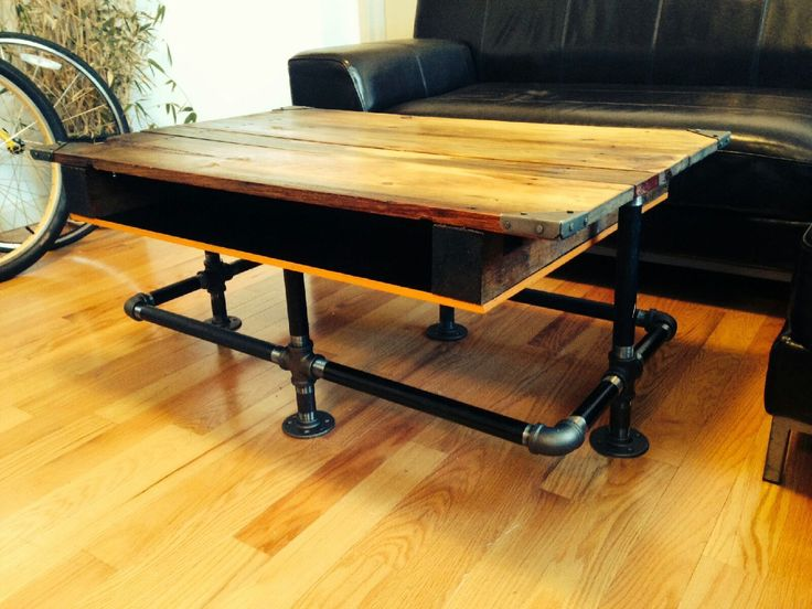 Attractive Pipe Furniture Part - 12: Coffee Table