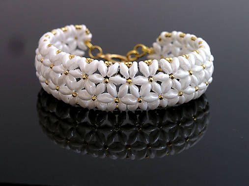 Superduo beaded bracelet  http://www.sashe.sk/kacenkag/detail/snehovy