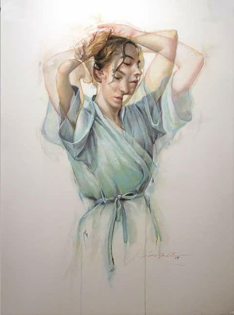 """Lady in blue"", Jane Radstrom"