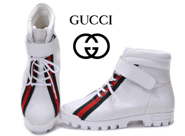 White gucci boots for men