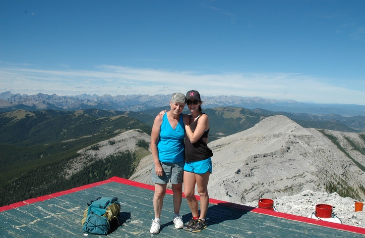 Moose mountain at the summit.With my Kelsey.
