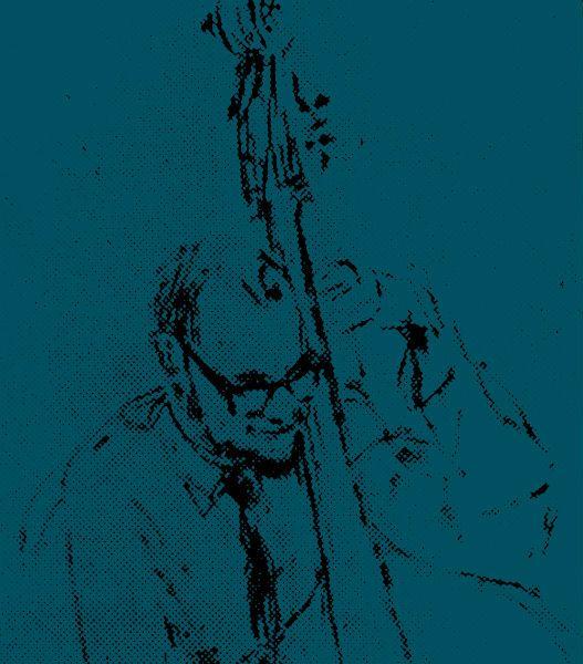 Brian Fagin 1963, drawing by Ken White