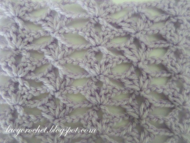 Lacy Crochet: Lacy Stitch for a Scarf