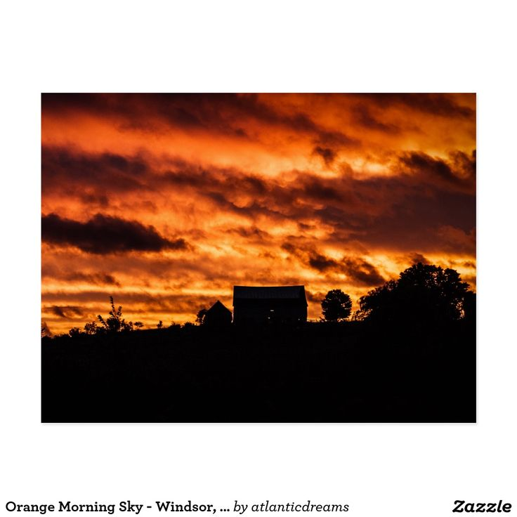 Orange Morning Sky - Windsor, NS Postcard