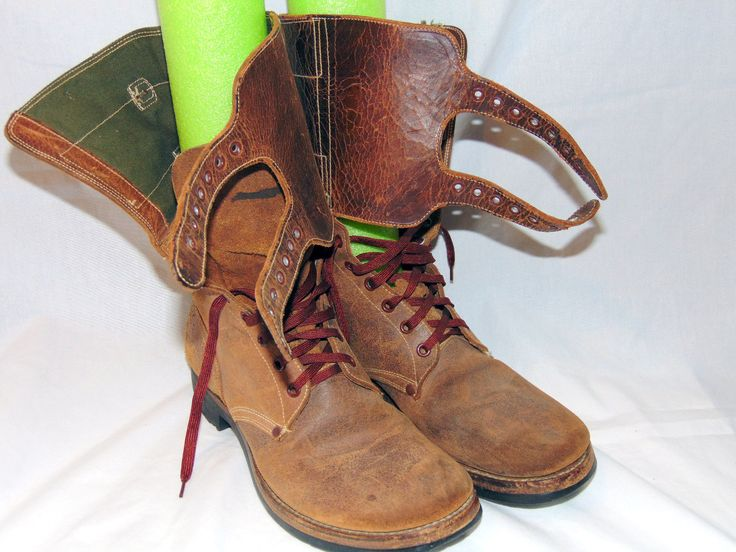 Paratrooper / Jump Boots. Man Size 8C. Military WWII Double Buckle. Brown leather featuring the double buckle shaft closure which provides great ankle support. The boots have very good soles and and overall are very clean.   eBay!