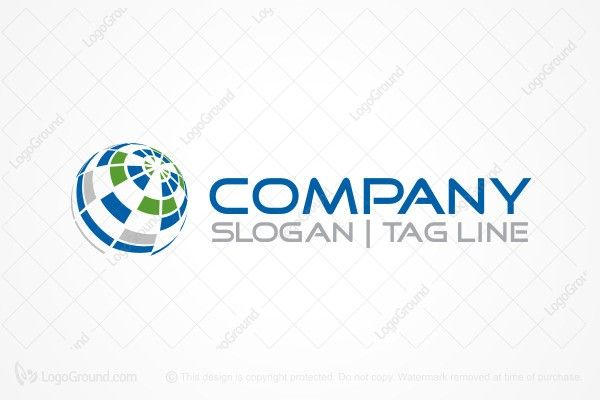 Logo for sale: Incomplete Globe Logo