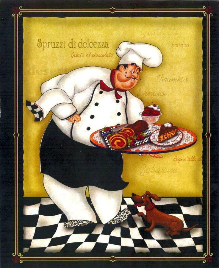 287 best Chef illustration art images on Pinterest | Anniversary ...