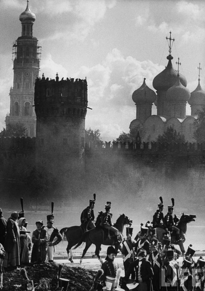 """Shooting """"War and Peace"""" movie, Moscow 1962"""