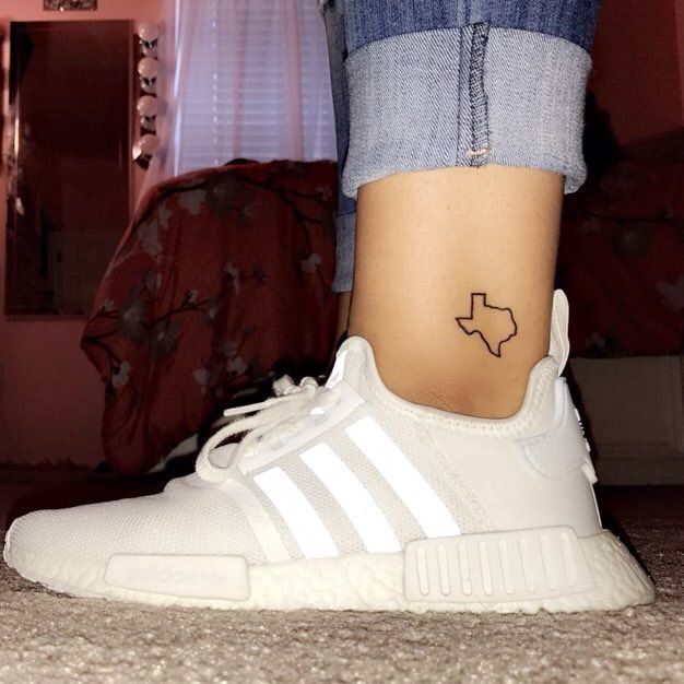 Small texas ankle tattoo