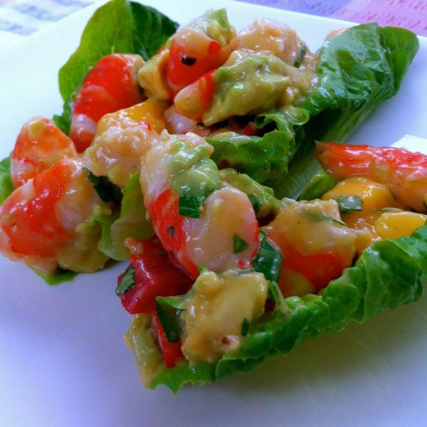 Australian Prawn and Mango Lettuce Cups Recipe - The Lite Backpacker