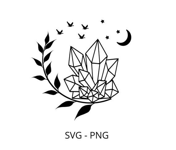 Crystal Svg Clipart Cricut Shirt Svg Printable Png Vector Graphics Download Png Silhouette Cricut Crystal Drawing Crystal Illustration Crystals Art Drawing