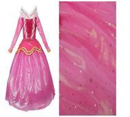 Great Girl Holiday Princess Aurora Dress Pink Party Ceremony Dress Fancy Costume