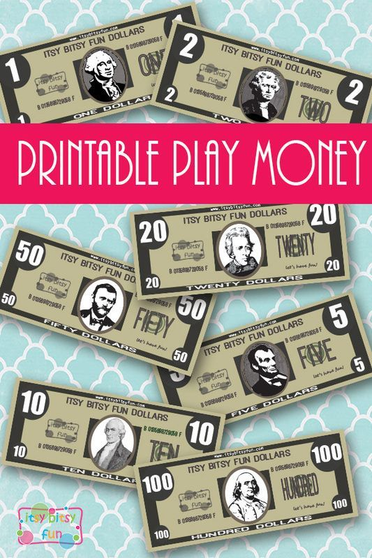 Free Printable Realistic Play Money                                                                                                                                                                                 More