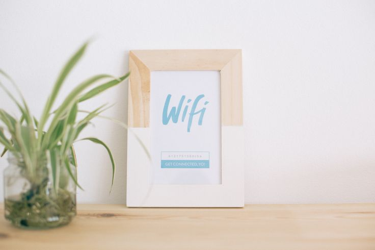 FREEBIE: Printable & Editable Wifi Key Card!  www.kinlake.com