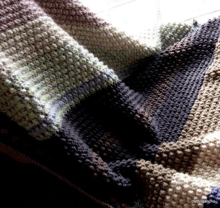 Mes favoris tricot crochet mod le gratuit un plaid en - Modele plaid tricot gratuit ...