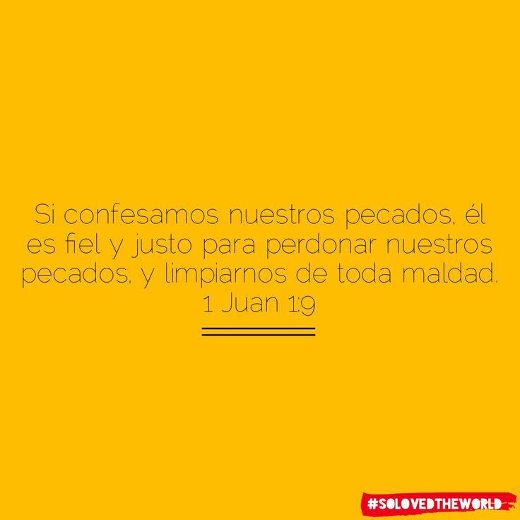 Si confesamos nuestros pecados, él es fiel y justo para perdonar nuestros pecados, y limpiarnos de toda maldad.  1 Juan 1:9 #jesus #god #gospel #bible #love #proyectokerigma #eldiosconocido #solovedtheworld