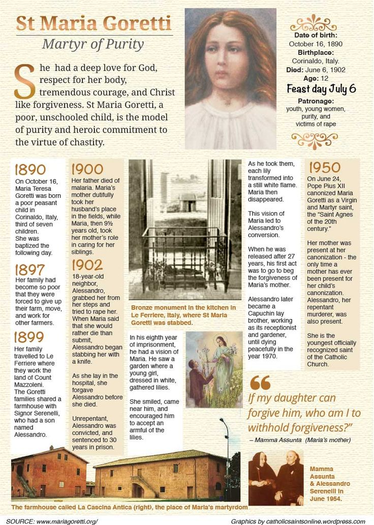 St Maria Goretti Childhood | Source: http://www.mariagoretti.org/mariabio.htm