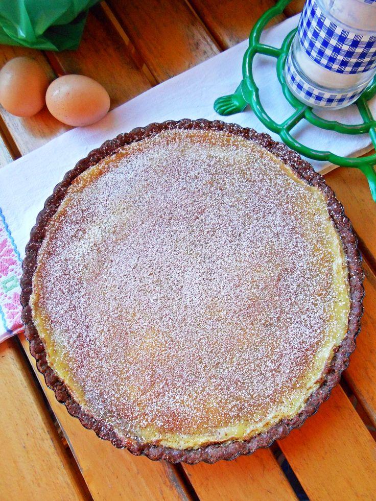 Crostata golosa con crema e cioccolato http://blog.giallozafferano.it/rossoduovo/crostata-golosa-con-crema-e-cioccolato/