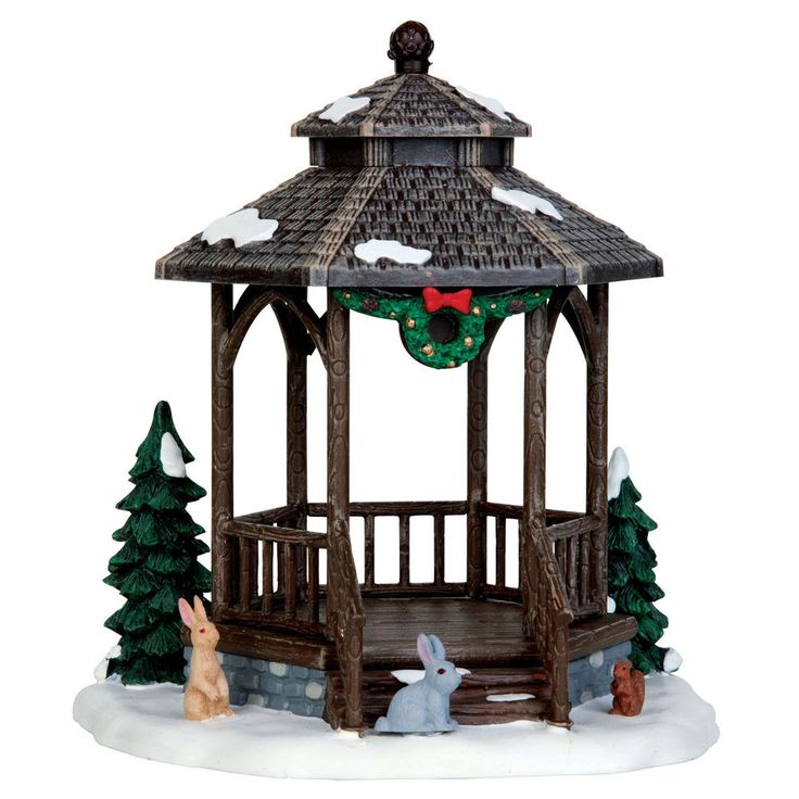 """LEMAX CHRISTMAS VILLAGE """"WINTER GAZEBO"""" PRODUCT No. 43084 TABLE ACCENT #Lemax"""