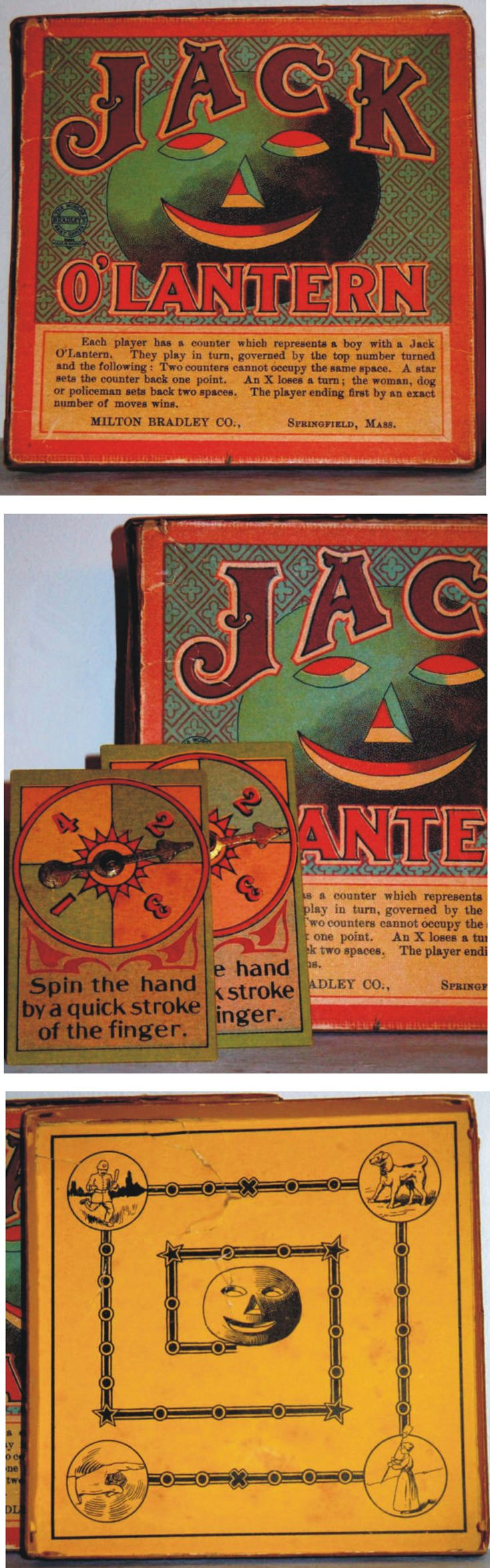 jack olantern vintage halloween board game by milton bradley - Antique Halloween Decorations