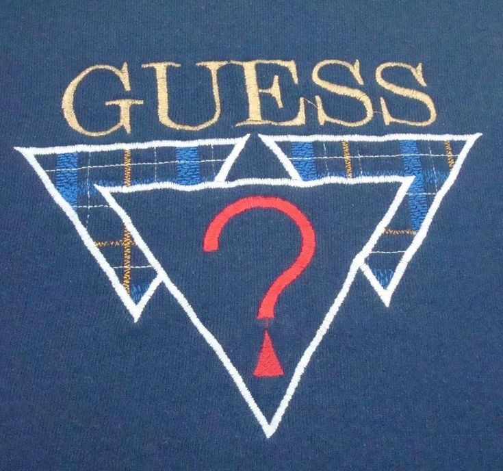 GUESS Jeans Sweatshirt Size XL Navy Blue Embroidered Logo Vintage USA Made #GUESS #SweatshirtCrew