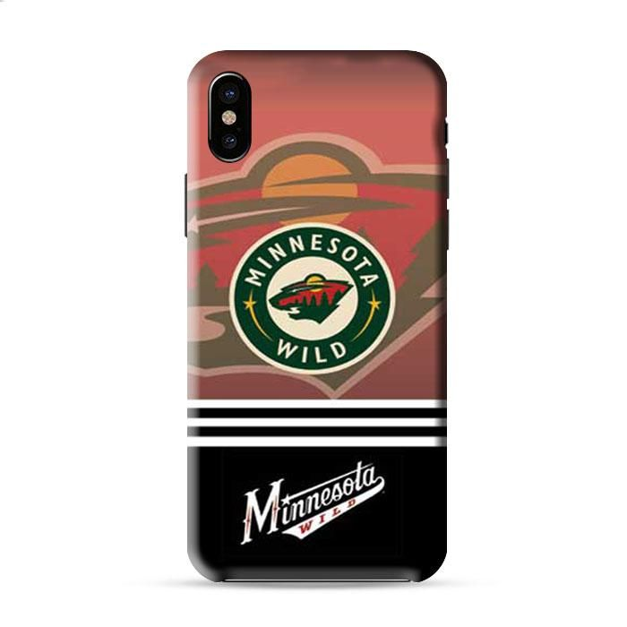 Minnesota Wild Logos Stripes Red Fade Iphone X 3D Case Caseperson