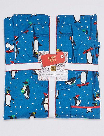 Pure Cotton Pyjamas (1-16 Years) | M&S