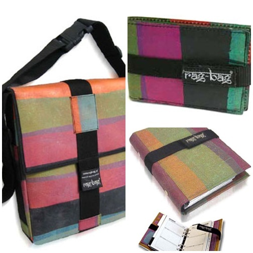This is one of the best examples of recycled plastic bags fused and repurposed into products. Nice!