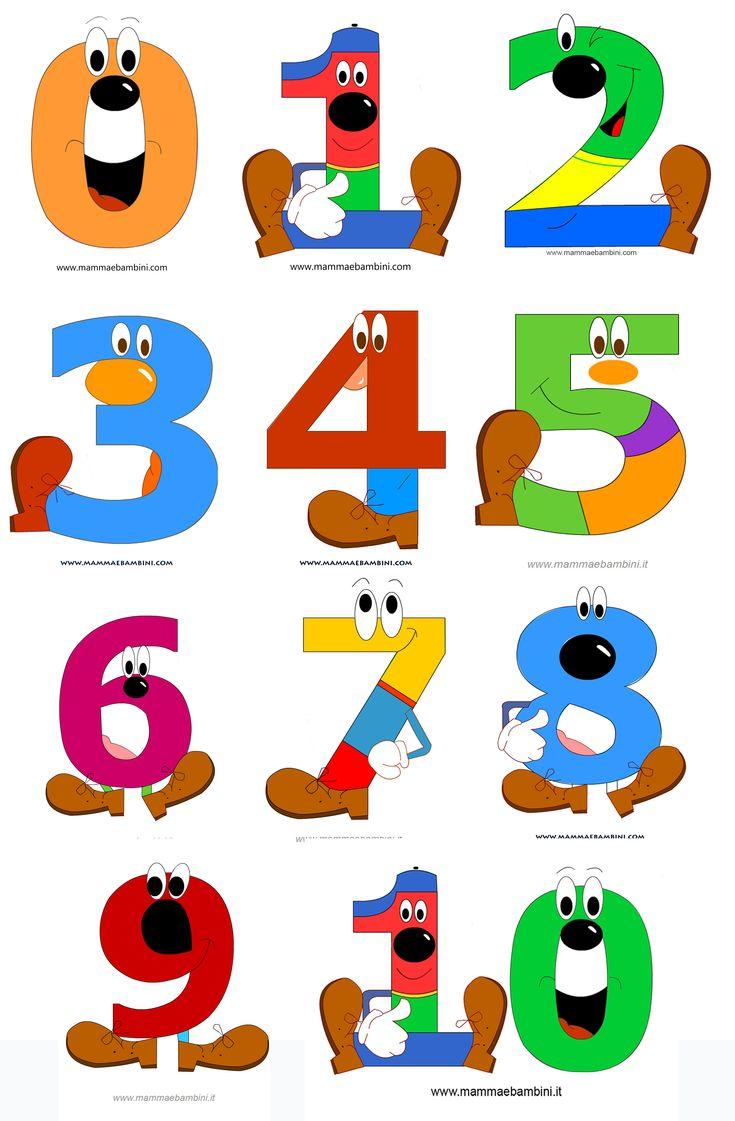 Numeri Colorati Disegni per Bimbi