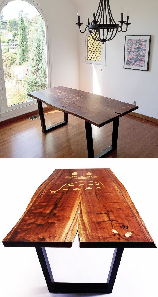 Charles Lushear Totoro Live Edge Table As Seen In Los Angeles Bespoke Tables