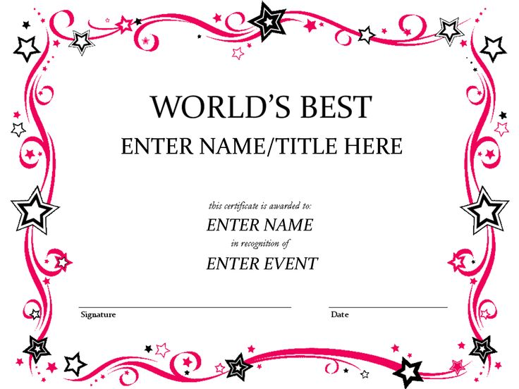 A good looking Certificate Brochure Template to create certificates - best of recognition award certificate wording